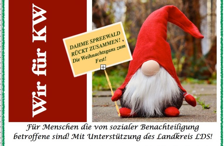 DAHME SPREEWALD RÜCKT ZUSAMMEN! Die Weihnachtsgans zum Fest!